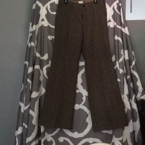 0A Gap brown lined low rise trousers